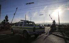 The scene of a collision between a train and a bakkie at the Buttskop level crossing in Blackheath, Cape Town on 27 April 2018. Picture: Cindy Archillies/EWN