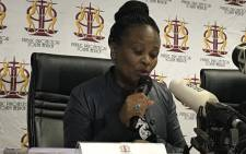 FILE: Public Protector Busisiwe Mkhwebane during a press briefing. Picture: Kgothatso Mogale/EWN