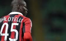 AC Milan striker Mario Balotelli. Picture: AFP