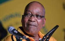 ANC President Jacob Zuma at the parties elective conference in Mangaung on 16 December 2012. Picture: Aletta Gardner/EWN