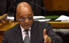 President Jacob Zuma in response to the debate on the State of the Nation Address, National Assembly, Cape Town. Picture: GCIS.