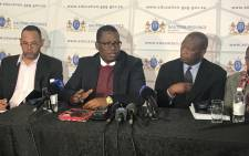 Gauteng Education MEC Panyaza Lesufi at Parktown Boys High School in Johannesburg. Picture: Kgothatso Mogale/EWN