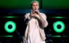 Justin Bieber. Picture: AFP.
