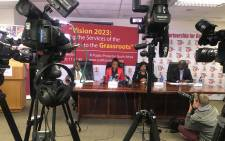 Advocate Busisiwe Mkhwebane is providing a quarterly update on the performance of her office and is releasing several reports at a briefing in Pretoria. @PublicProtector/Twitter.