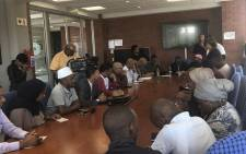 Community leaders from Mitchells Plain, Siqalo and Rondevlei meet with local government following service delivery protests. Picture: Graig-Lee Smith/EWN