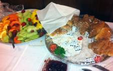 Platters of food served at Parliamentary briefings. Picture: Graeme Raubenheimer/EWN.