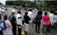 FILE: Students queue at a university. Picture: Supplied