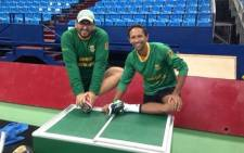 South African tennis star Raven Klaasen with sports psychologist Gielie Hoffmann. Picture: gieliehoffmann.co.za
