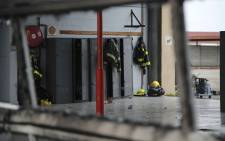 The Gugulethu fire station was set alight by protesting residents on 12 July 2018. Picture: Cindy Archillies/EWN