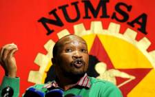 Numsa General Secretary Irvin Jim speaks to reporters after a meeting of the trade union's central committee in Johannesburg, 18 August 2011. Picture: Sapa.