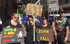 FIEL: Anti-Zuma protesters in Cape Town on 7 April 2017. Picture: Imran Goga/EWN