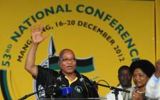 Jacob Zuma addresses delegates in Mangaung, shortly after being re-elected as the ANC President. Picture: ANC.