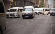 FILE: Taxis in the Johannesburg CBD. Picture: EWN