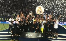 FILE: Real Madrid lift the European Super Cup. Picture: Twitter @realmadriden.