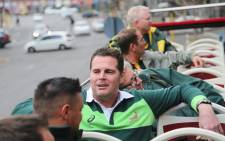 FILE: Former Springbok flanker Rassie Erasmus joins fans on the bus and explains the captain's run concept. Picture: EWN