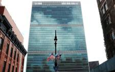 FILE: The United Nations (UN) headquarters stands above the neighbourhood on the east side of Manhattan in September 2015 in New York City. Picture: AFP.