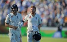 England's Dawid Malan and Jonny Bairstow during the Ashes Test against Australia. Picture: Facebook.
