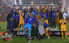 Kaizer Chiefs beat Orlando Pirates 1-0 to become the 2017 Carling Black Label Champions. Picture: @blacklabelsa.
