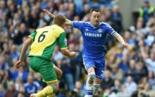FILE: Chelsea's defender, John Terry battles with Michael Turnerto of Norwich City during the English Premier League at Stamford Bridge on 4 May 2014. Picture: Facebook.