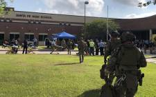 A shooting at Santa Fe High School in Texas has resulted in multiple fatalities. Picture: @HCSOTexas/Twitter.