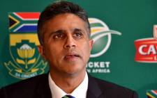 Proteas team manager Doctor Mohammed Moosajee speaks during a press conference in Cape Town on 11 July 2012 to pay tribute to Mark Boucher. Picture: Aletta Gardner/EWN