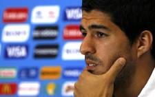 Uruguayan striker Luis Suarez. Picture: Facebook.