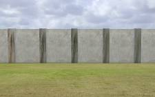 A mock-up of US President Donald Trump's border wall. Picture: CNN