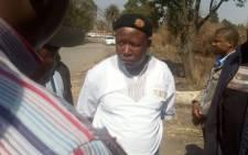 Julius Malema visits Aurora Mine. Picture: Taurai Maduna/EWN.