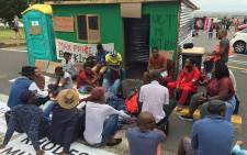 FILE: A group of University of Cape Town (UCT) students erected a shack on campus during a protest over accommodation on 15 February 2016. Picture: Natalie Malgas/EWN.