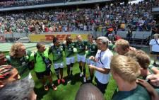 Blitzboks team and coach Neil Powell during the Cape Town 7s tournament. Picture: @Blitzboks.