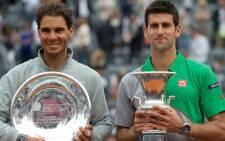 FILE IMAGE: Rafael Nadal and Novak Djokovic. Picture: Facebook.com