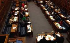 Inside the Western Cape Legislature, where the ANC filed a motion of impeachment against Western Cape Premier Helen Zille – was defeated 23 to 14 in a vote on Tuesday 1 December 2015. Picture: Rahima Essop/EWN