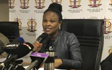 Public Protector Busisiwe Mkhwebane during a press briefing. Picture: Kgothatso Mogale/EWN