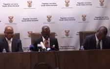 New Finance Minister speaking at the GCIS in Pretoria.Picture: Kgothatso Mogale/EWN