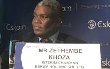 Mr Zethembe Khoza interim chairman of the Eskom board briefs media on 2016 results on 19 July 2017. Picture: Kgothatso Mogale/EWN