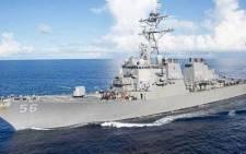 The USS John McCain. Picture: @USNavy/Twitter