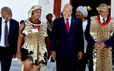 President Jacob Zuma and COGTA Minister Van Rooyen, left, at the official opening of the National House of Traditional Leaders at the Old Chambers in Parliament. Picture: GCIS.