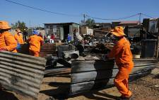 Five people have lost their lives, including three children aged between 9 and 13 years, in a shack fire in Vlakfontein, South of Johannesburg on Tuesday, 04 June. Picture: Sebabatso Mosamo/EWN