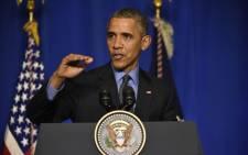 US president Barack Obama.Picture: AFP.