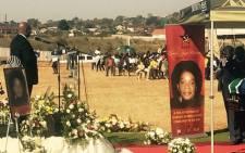 Jacob Zuma speaks at the funeral of Joyce Mashamba. Picture: Twitter @ANCLimpopo.