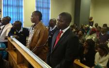 Molemo Jub Jub Maarohanye and Themba Tshabalala stand in the dock as judgement is handed down in their murder and attempted murder case. Picture: Christa van der Walt/EWN.