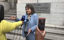 FILE: Cape Town Mayor Patricia de Lille addresses the media outside of the Cape Town High Court. Picture: Cindy Archillies/EWN.