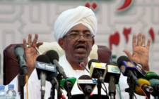 Sudanese President Omar al-Bashir speaks during a press conference in Khartoum late on September 22, 2013. Picture:AFP