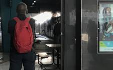 Eleven Metrorail carriages have been engulfed in a fire at the Cape Town station in the Cape Town CBD on 21 July 2018. Picture: EWN.