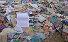 The Democratic Alliance discovered destroyed textbooks in the Limpopo province on 23 June, 2012.