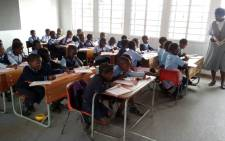 FILE: Learners get to grips with their lesson during class in Vuwani. Picture: Supplied