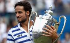 Spanish veteran Feliciano Lopez rounded off a magical week on the Queen's Club lawns by winning the Aegon Championships. Picture: Twitter/@QueensTennis.
