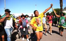ANC supporters young and old sing during the centennial celebrations in honour of former president Nelson Mandela, at the Grand Parade. Picture: Bertram Malgas