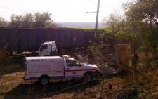Rescue personnel on the scene of a train & truck accident near Hazyview in Mpumalanga. Picture: ER24.