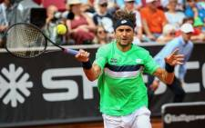 David Ferrer in action during the Swedish Open semifinal against Fernando Verdasco. Picture: Twitter/@swedish_open.